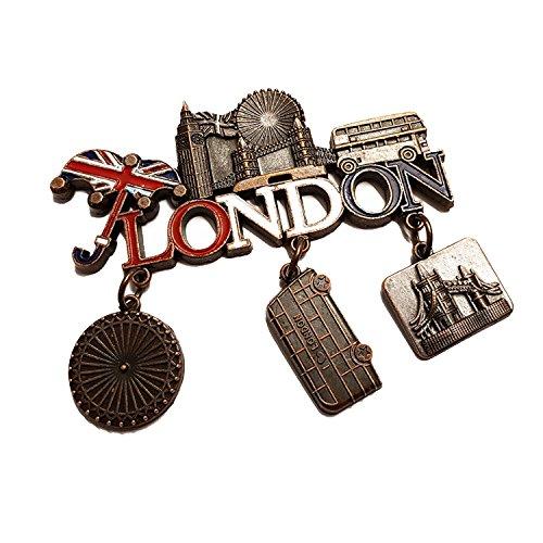 tall baumeln Magnet Union Jack Regenschirm, Bus, Big Ben, Tower Bridge, London Eye (erhältlich in Gold, Silber oder Bronze Farben), bronze (Sweet 16 Dekorationen Billig)