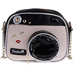 Exing Sacs pour Femmes Forme de l'appareil Photo Petit Sac à bandoulière Sac à Main Bourse de Messager (comme montré)