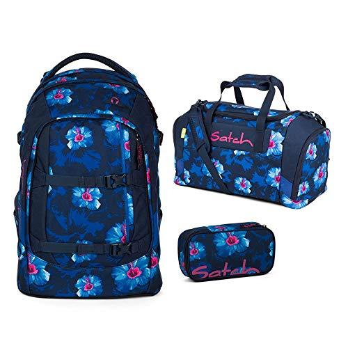 Satch Schulrucksack-Set 3-TLG Pack Waikiki Blue blau
