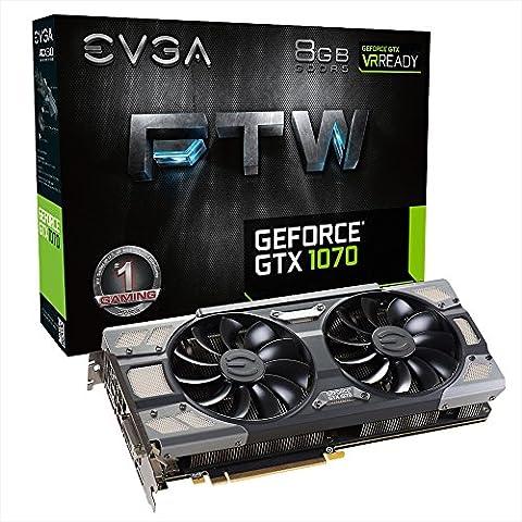 EVGA GTX1070 FTW Gaming Scheda Grafica da 8 GB, VGA, Nero