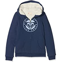 Roxy Memorize Density Sudadera con Capucha y Cremallera, niñas, Azul (Dress Blues Heather