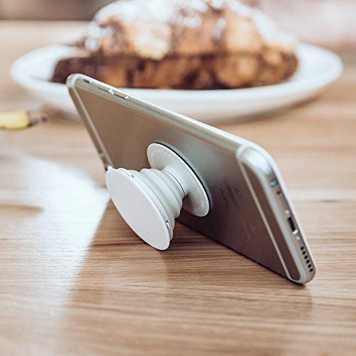 PopSockets: Ausziehbarer Sockel und Griff für Smartphones und Tablets - Black - 4