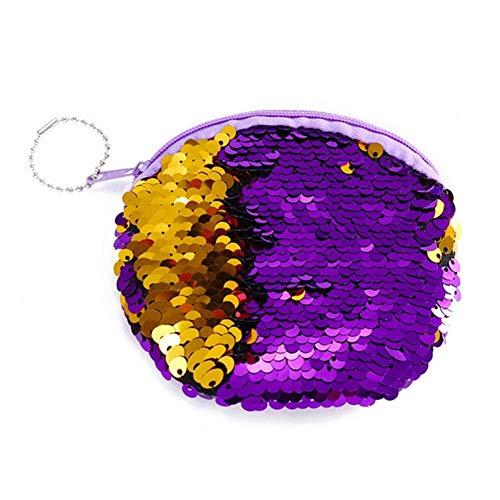 052564ed9f yanyaoo Sacchetto di Monete Rotondo della Peluche delle Donne Sacchetto del  trasduttore Auricolare della Chiusura Lampo