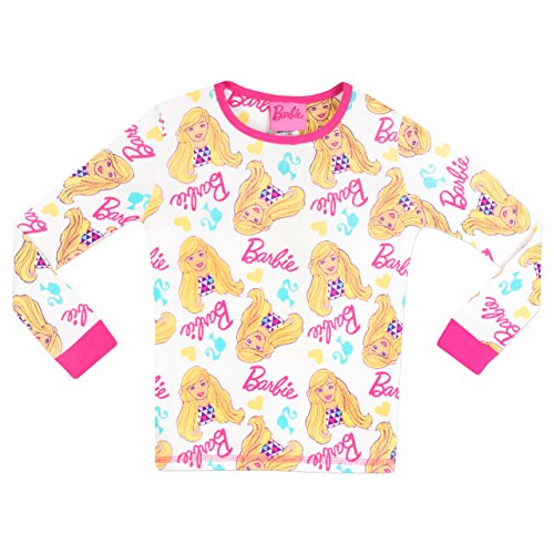 Image of Barbie Girls Barbie Pyjamas Snuggle Fit Age 3 to 4 Years