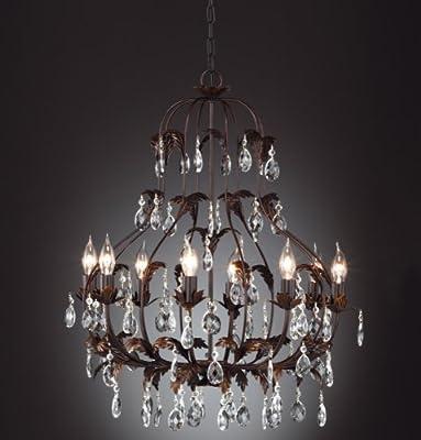 Honsel Leuchte Kronleuchterform 8 flammig, rostarbig antik, von Honsel auf Lampenhans.de
