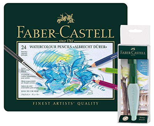 Faber-Castell 117590 Aquarellstifte Albrecht Dürer 24er Metalletui, Art und Graphic...
