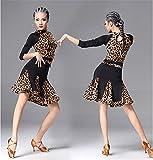 Femmes robe à manches longues danse vêtements latine   danse et formation