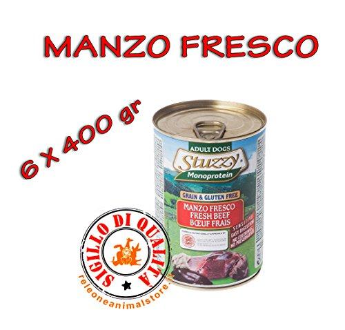 Stuzzy monoproteico mangime umido cane adulto manzo fresco 6x400 gr