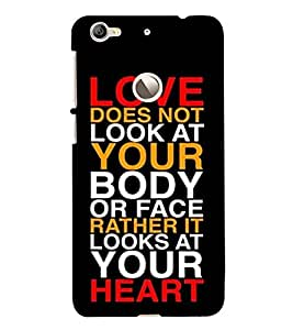 Takkloo cover with romantic quote lovely quote, valentine specialcover with quote, cover with saying) Printed Designer Back Case Cover for LeEco Le 1s :: LeEco Le 1s Eco :: LeTV 1S