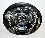 Teller in Mosaiktechnik Dekoteller schwarz/silber 27cm - 4