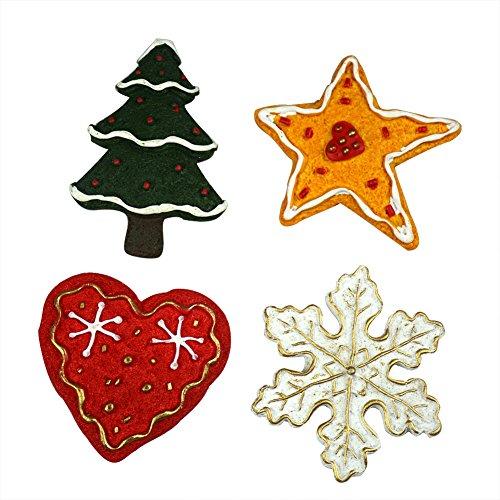 4Weihnachten Cute 3D Kühlschrankmagnet Kitchen Home Garten Zaun Tür Wand Dekoration, Tree Snowflake