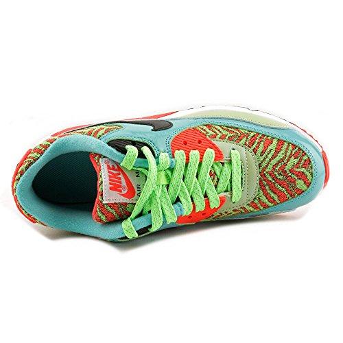 Nike Air Max 90 Prem Mesh (Gs), Scarpe da Corsa Bambini e Ragazzi - Flsh Lime/Black-Hyper Jd-Bright Crm
