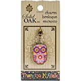 Solid Oak en chêne Massif thaneeya (R) LLC Acrylique Charme Hibou 2, Acrylique, Multicolore, 3pièces