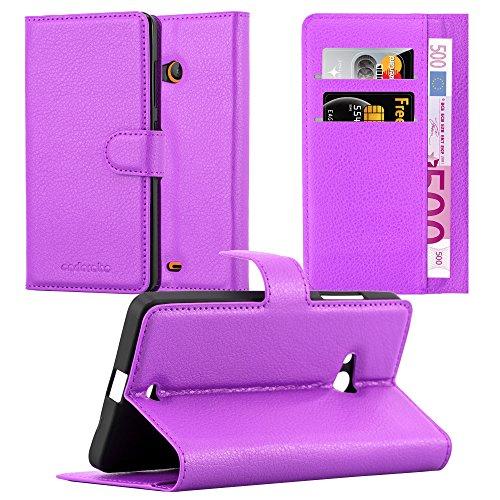 Cadorabo custodia libro per nokia lumia 540 in violetta ametista – con vani di carte, funzione stand e chiusura magnetica – portafoglio cover case wallet book etui protezione