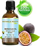 Maracuja Oil. 100% Pure / Natural. Cold Pressed / Undiluted. For Face, Hair And Body. 10ml - 0.33 Fl.oz. By Botanical Beauty