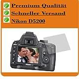 2x Entspiegelnde Displayschutzfolie für Nikon D5200 Schutzhülle Displayschutz Displayfolie Folie