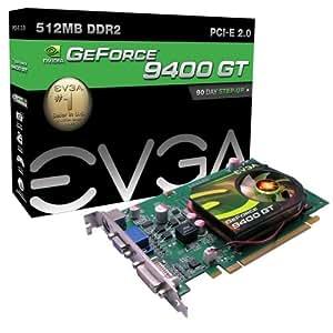 EVGA nVidia GeForce 9400 GT  Grafikkarte (PCI-e, 512 GDDR2 Speicher, DVI-I, VGA, HDTV-7, 1 GPU)