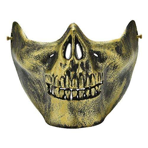 WHFDRHWSJMJ Halloween Maske LED Light Horror Maske Latex 1 Stück Scary Skull Skeleton Maske Halloween Kostüm Halbe Gesichtsmasken Für Party, B