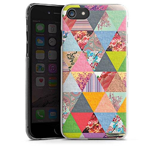 Apple iPhone X Silikon Hülle Case Schutzhülle Triangles Muster Dreiecke Hard Case transparent