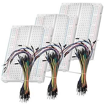 Azdelivery Breadboard Kit 3 X 65stk Jumper Wire Kabel M2m Und 3 X Mini Breadboard 400 Pins Kompatibel Mit Arduino Raspberry Pi Gewerbe Industrie Wissenschaft