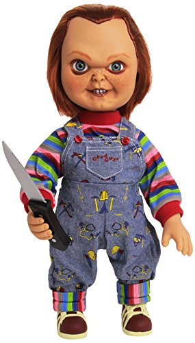 Kostüm Chucky Amazon (Kinderspiel 37 cm Good Guy Chucky-Puppe mit Sound Child's Play 37 cm Good Guy Chucky Doll with)