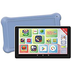 """Lexibook LexiTab 10"""" -Tablette enfant avec applications éducatives, jeux et contrôles parentaux - Pochette protection incluse - Android, Wi-Fi, Bluetooth, Google Play, YouTube, blanche/mauve, MFC513FR"""