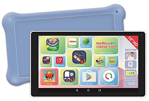 """Lexibook LexiTab 10"""" -Tablette avec éducateurs, jeux et contrôle parental - Protection contre Pochette - Android, Wi-Fi, Bluetooth, Google Play, YouTube, blanche / violet, MFC513FR"""