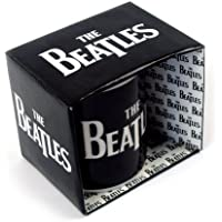 The Beatles negro logotipo oficial taza