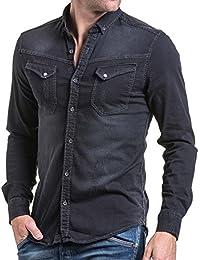 BLZ jeans - Chemise homme noir jogg jean fashion