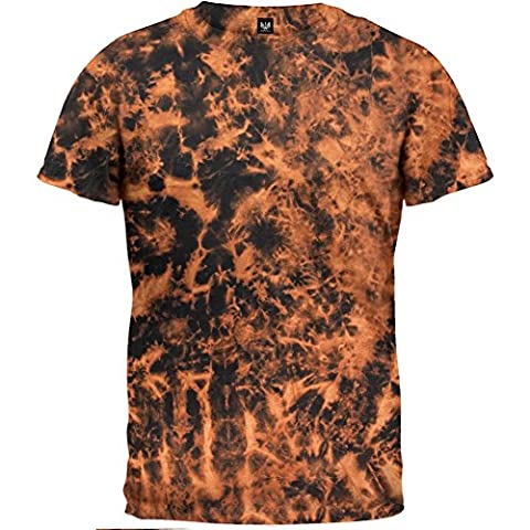 Old Glory - mens Subtractive Tie Dye T-Shirt 2X-Large Brown