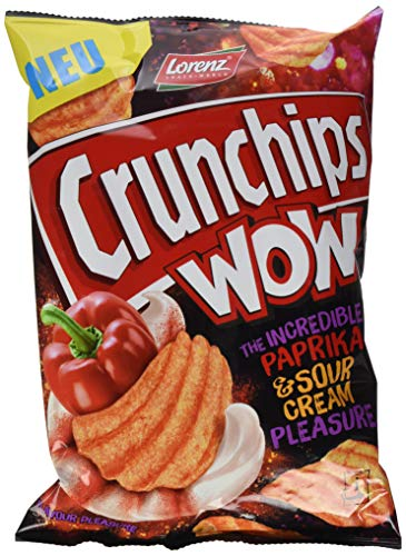 Preisvergleich Produktbild Lorenz Snack World Crunchips WOW Paprika & Sour Cream,  10er Pack (10 x 110 g)