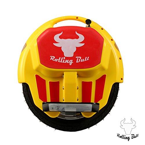 Kategorie <b>Einrad E-Board (Monowheel) </b> - RollingBull Elektroeinrad e-wheel X5YELLOW bis 18KM Reichweite mit LED-Licht
