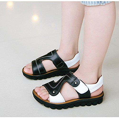 Scothen Enfants Sandales bride à la cheville sandales garçons fermées slingback été sandales plage pantoufles chaussures sandales plage d'été anti-dérapant pantoufles pour enfants Boy Chaussures Noir