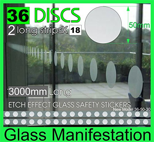 professional-pack-of-36-discs-50mm-in-diameter-etch-effect-safety-stickers-for-windows-doors-3000mm-