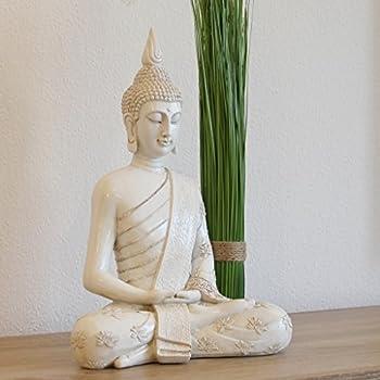 Amazon.de: Buddha Statue Groß 65cm Sitzend Deko Figur Für Wohnzimmer ...