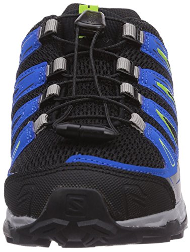 Salomon X-Ultra J Unisex-Kinder Trekking &Wanderstiefel Grau (Black/Union Blue/Granny Green)