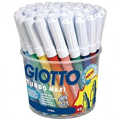 Pot de 48 feutres GIOTTO TURBO MAXI - Enfant Loisir Créatif Dessin Lavable - 201