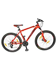 Atlas Peak P100 6061 21Speed Alloy Mountain Bike Red18