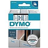 Dymo S0720540 D1-Etiketten (Selbstklebend, für den Drucker LabelManager, 12 mm x 7 m Rolle) blau auf weiß