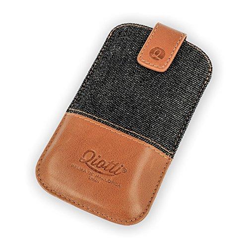 QIOTTI QX-P-0110-03-L Q.Pouch Denim Tasche (Größe: L) braun