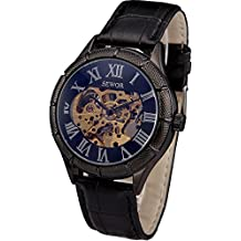 602de8719c1 SEWOR Reloj Esqueleto mecánico de Viento para Hombre
