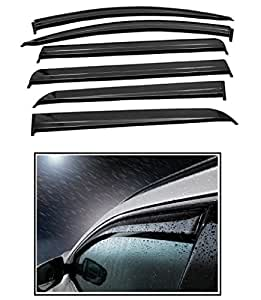 RIDAR Wind Rain Guard Flexible Car Door Visor Side Window Deflector 6pcs for Mahindra XUV 500 T-2