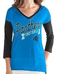 "Carolina Panthers Women's G-III NFL ""Airtime"" Dual Blend 3/4 Sleeve T-shirt Chemise"