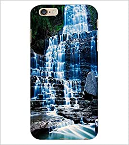 PrintDhaba WaterFall D-1129 Back Case Cover for APPLE IPHONE 6 PLUS (Multi-Coloured)