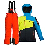 Killtec Kinderskianzug 2 teilig Skijacke + Skihose (orange, 164)