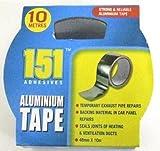 2x Aluminium Selbst adhsive Silber Folie Sticky Tape zuverlässig stark Tight Bond