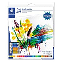 STAEDTLER 8500 C24 Karat Acrylic Paint Tube - Multi-Colour (Pack of 24)