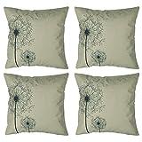 Best Better Homes and Gardens Bath Pillows - Luxbon Set of 4 PCS Dandelion Design Cushion Review
