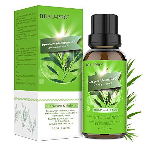 Teebaumöl Bio Naturrein 100% - Teebaum öl Tea Tree Oil für Shampoo Gesicht - Akne Öl, Acne Serum, Anti-Akne-Behandlung Gegen Unreine Haut, Anti Pickel, Akne -30ml -