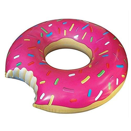 mengcore® Gigantic Donut de Donut Hinchable, diseño de piscina inflable Flota flotadores de natación, diseño de Toys para adulto Pool Swim Ring Verano Agua Juguete Rosa rosa Talla:XL